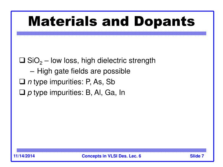 Materials and Dopants