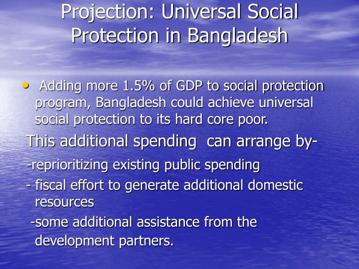 Projection: Universal Social Protection in Bangladesh