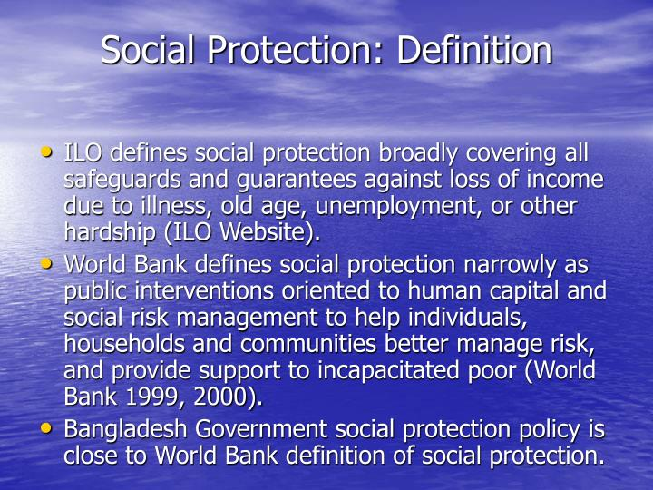 Social Protection: Definition