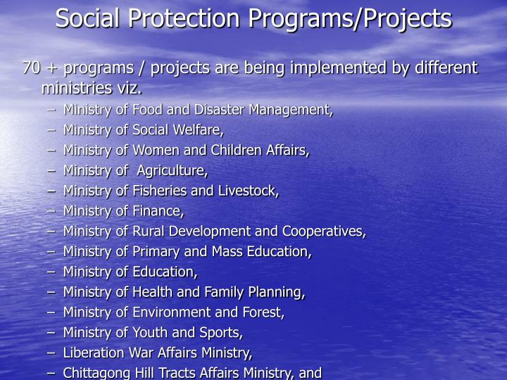 Social Protection Programs/Projects