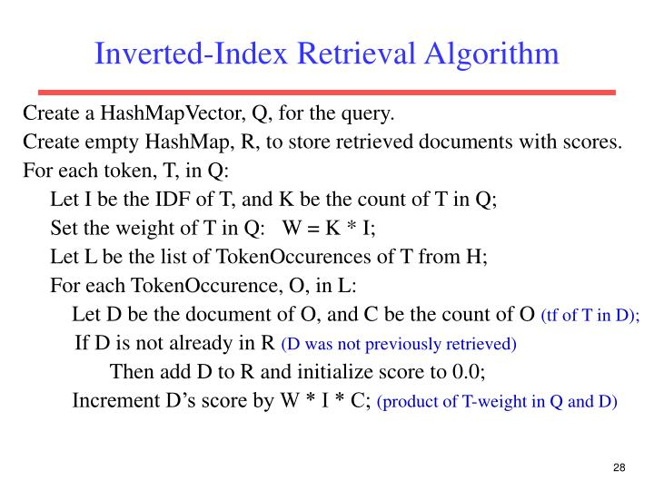Inverted-Index Retrieval Algorithm