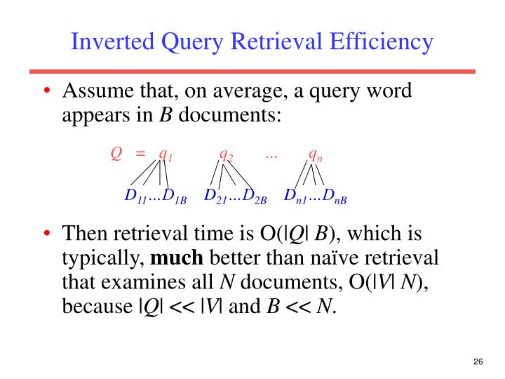Inverted Query Retrieval Efficiency