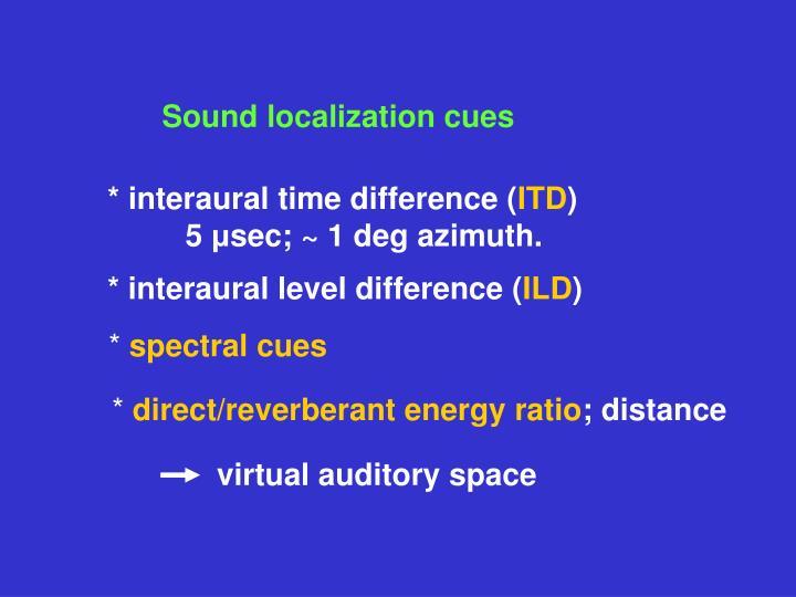 Sound localization cues