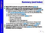 summary and index