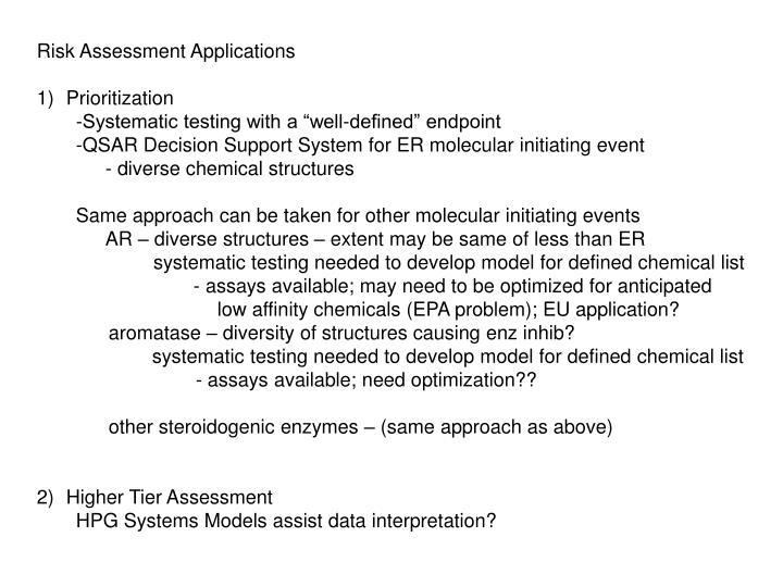 Risk Assessment Applications