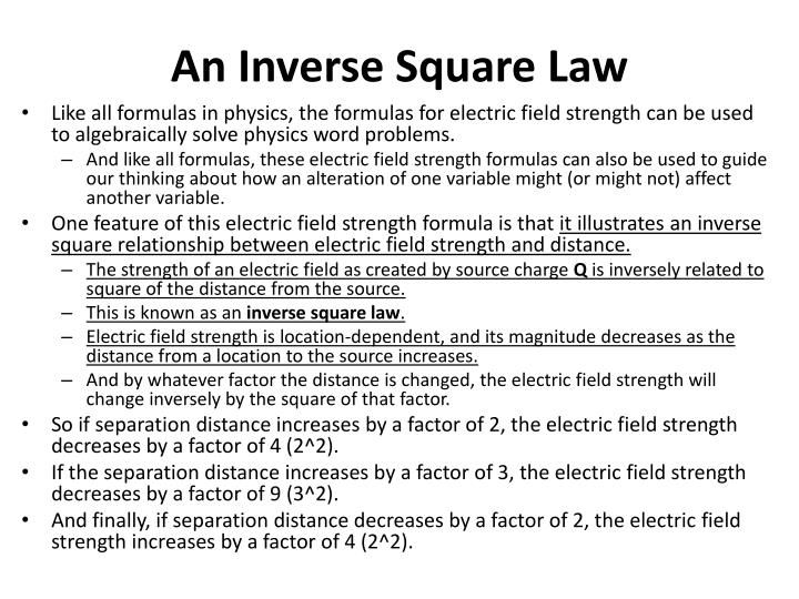 An Inverse Square Law