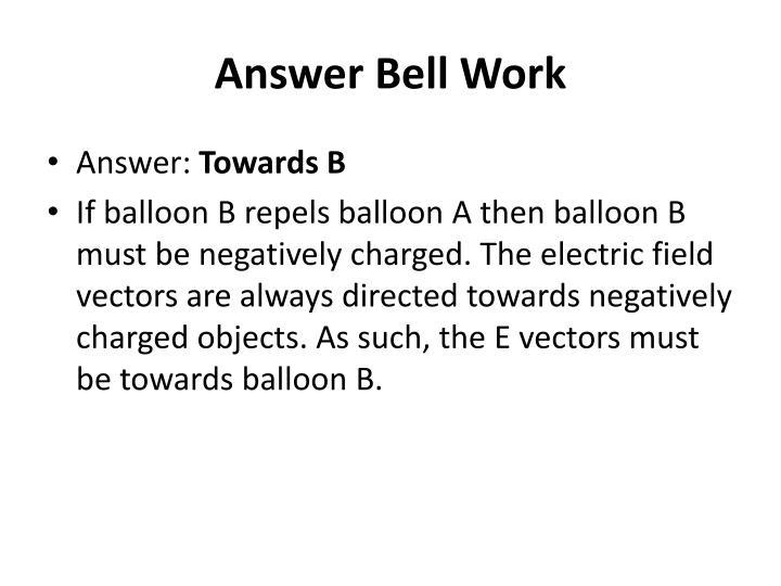 Answer Bell Work