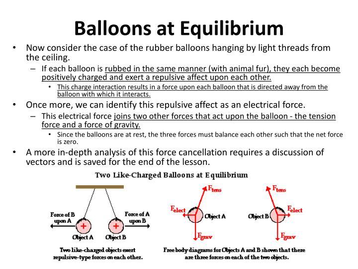 Balloons at Equilibrium