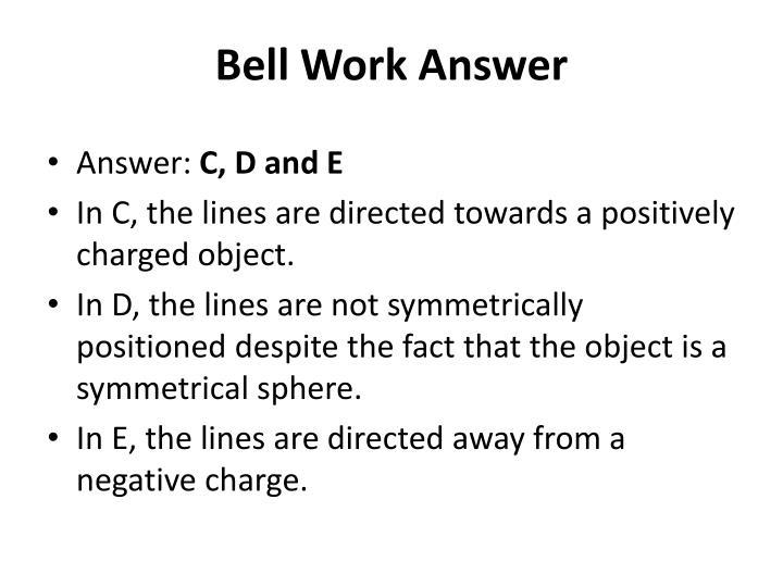 Bell Work Answer