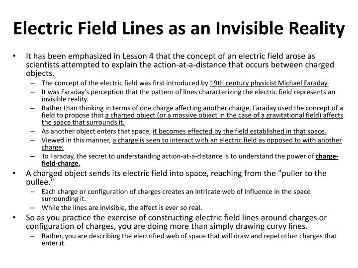 Electric Field Lines as an Invisible Reality