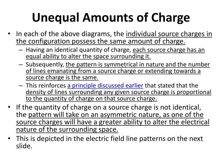 Unequal Amounts of Charge