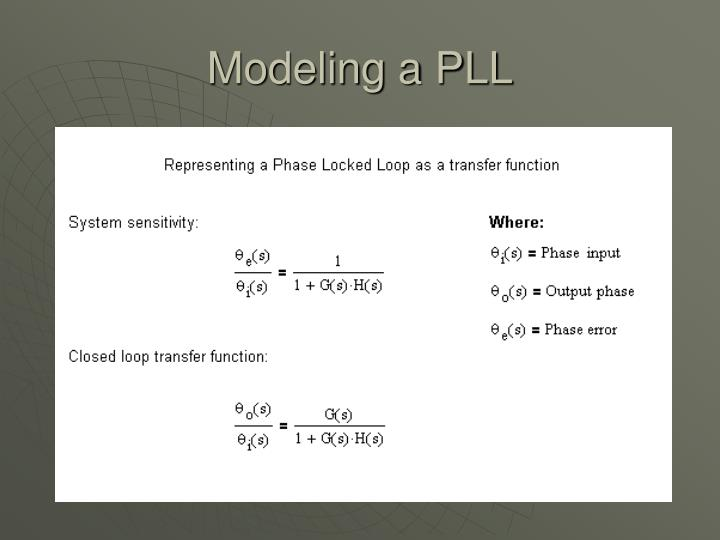 Modeling a PLL