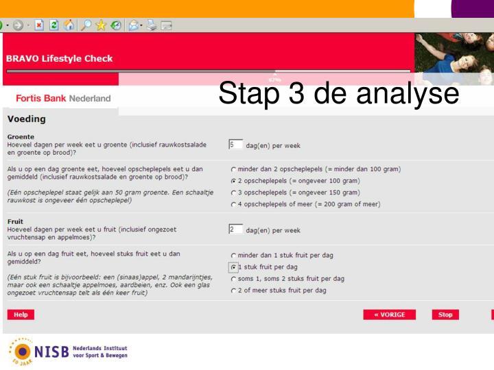 Stap 3 de analyse