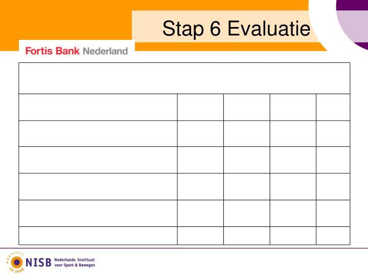 Stap 6 Evaluatie