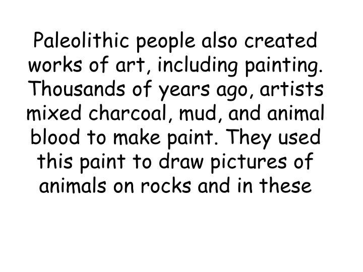 Paleolithic people