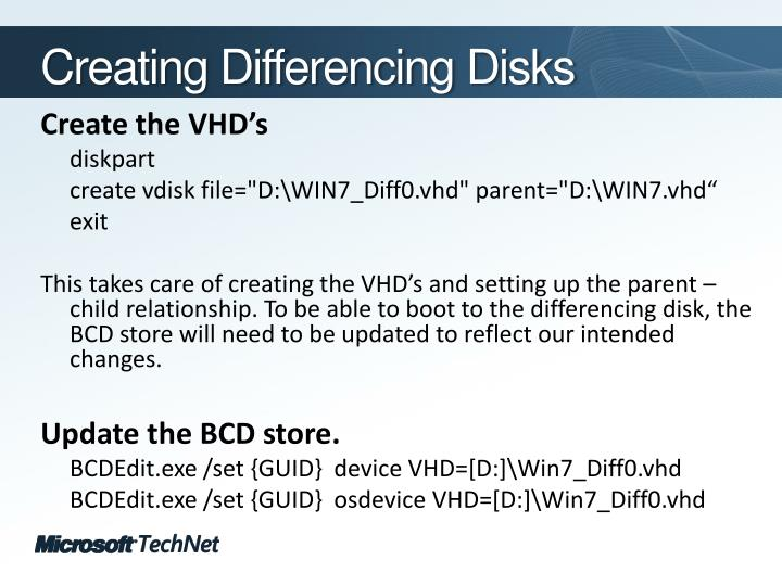 Creating Differencing Disks