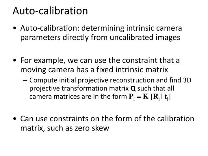 Auto-calibration