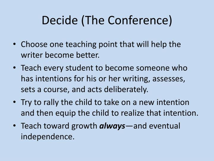 Decide (The Conference)