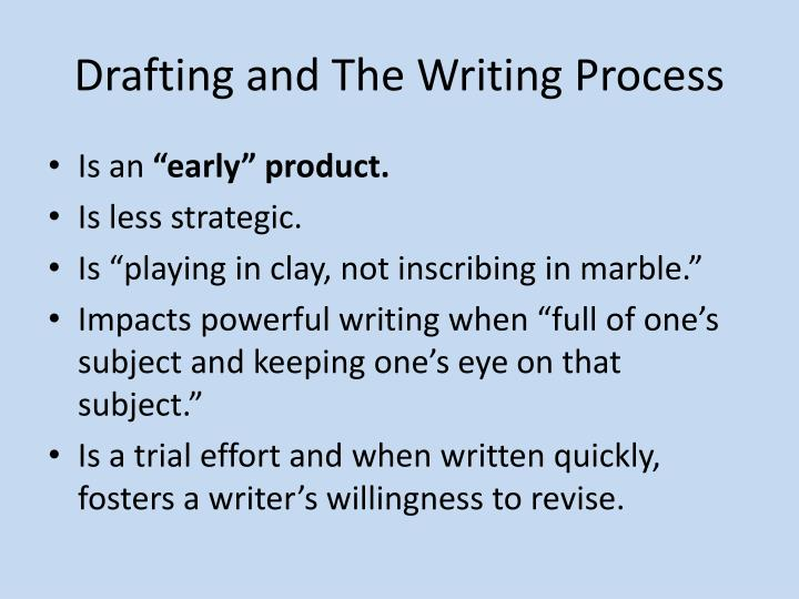 Drafting and The Writing Process