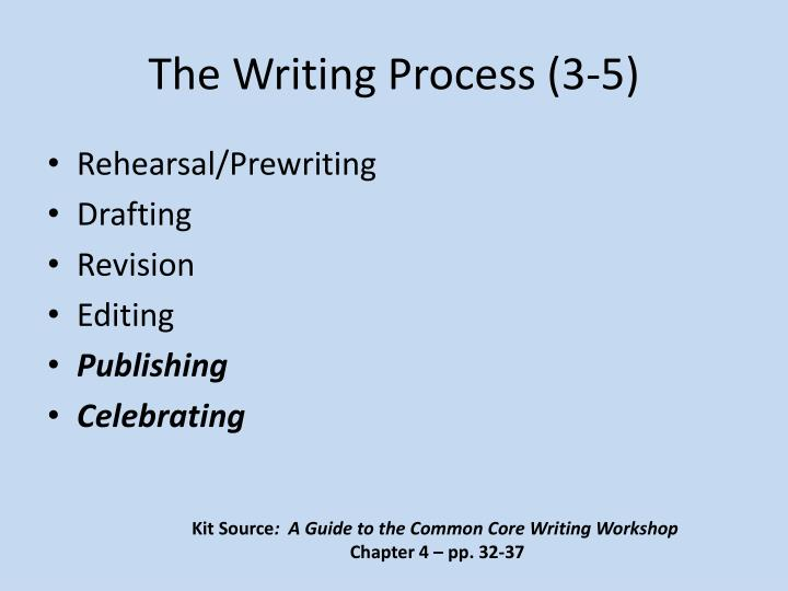 The Writing Process (3-5)