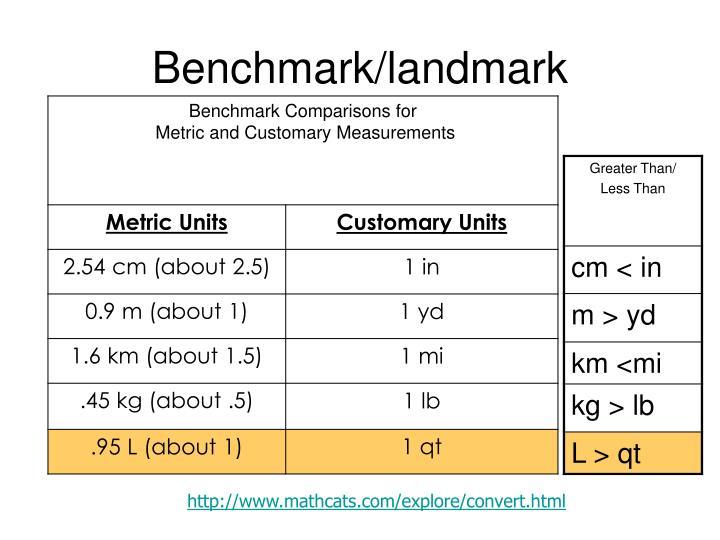 Benchmark/landmark