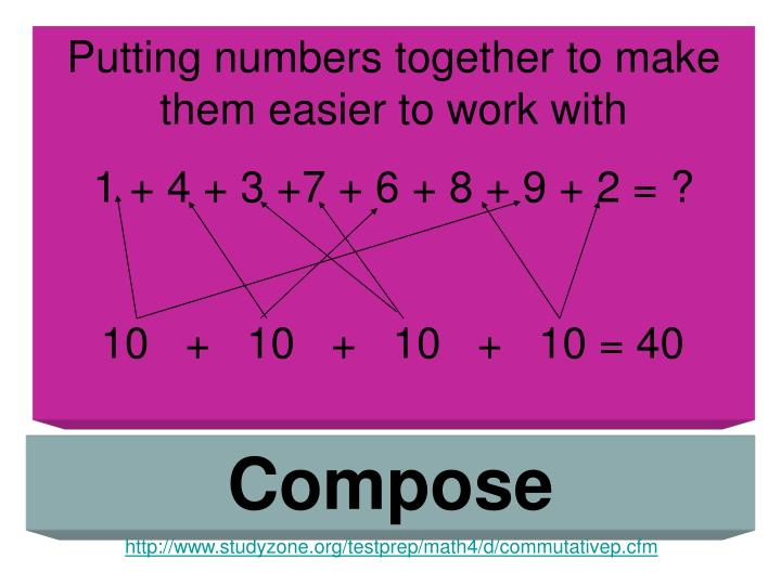Putting numbers together to make them easier to work with