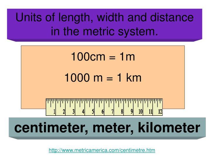 100cm = 1m
