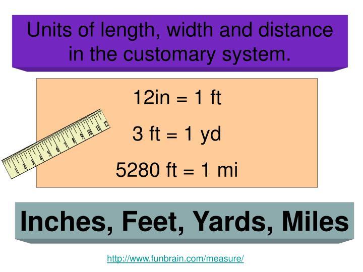 12in = 1 ft