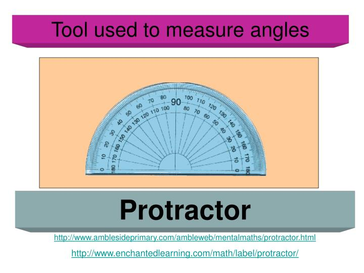 Tool used to measure angles