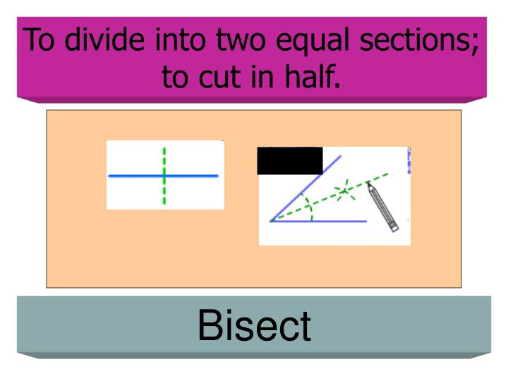 To divide into two equal sections; to cut in half.