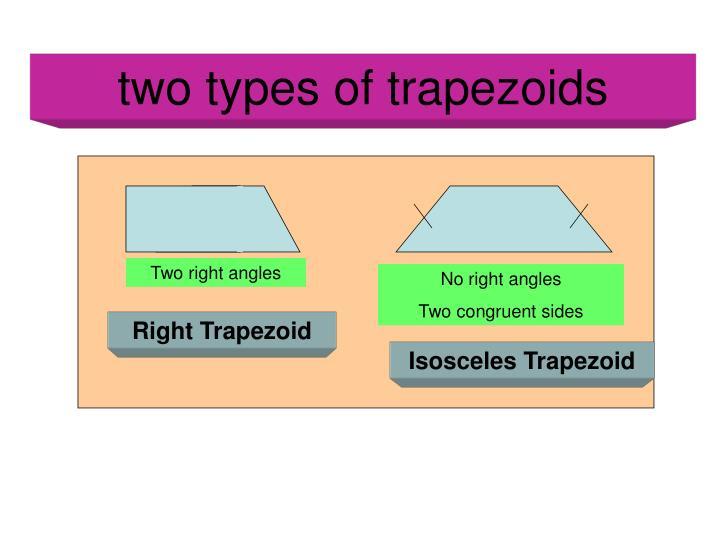 two types of trapezoids