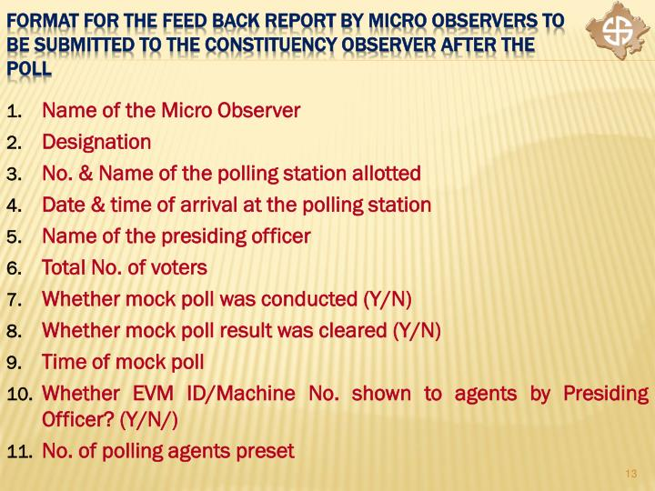 Name of the Micro Observer