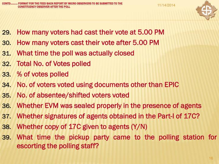 How many voters had cast their vote at 5.00 PM