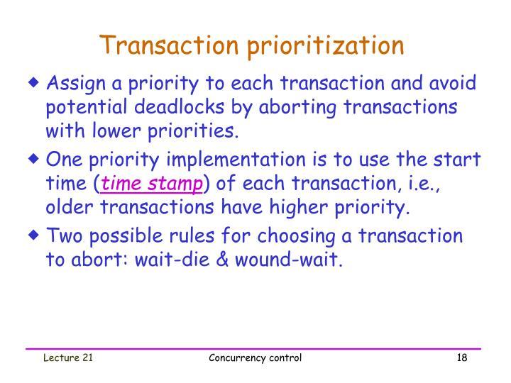 Transaction prioritization