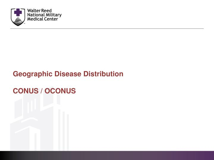 Geographic Disease Distribution