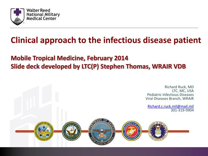 Clinical approach to the infectious disease patient