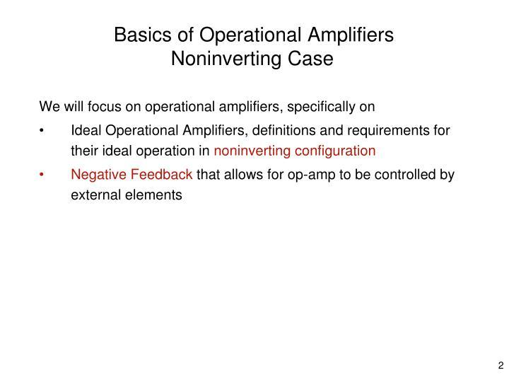 Basics of Operational Amplifiers