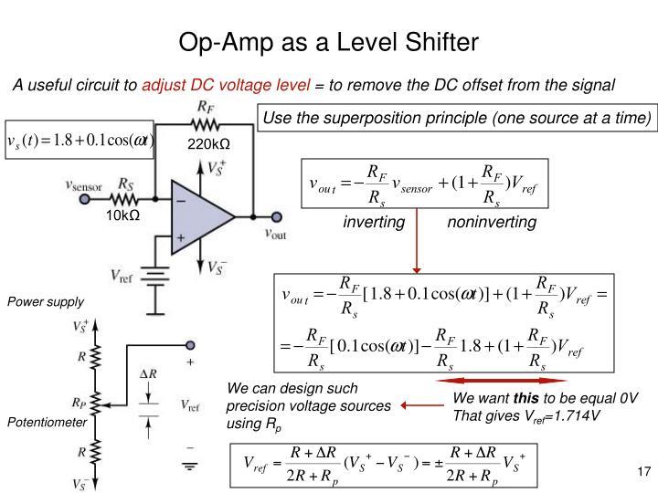 Op-Amp as a Level Shifter