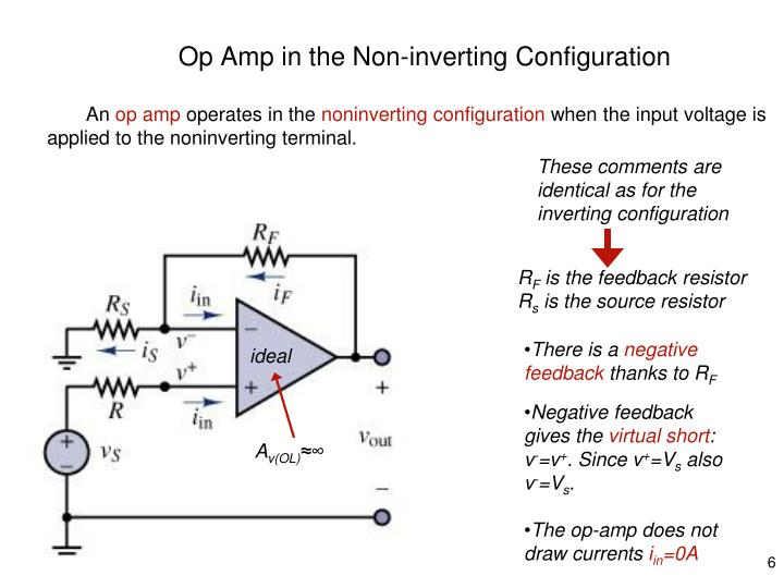 Op Amp in the Non-inverting Configuration