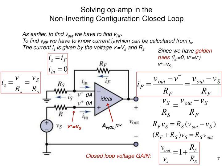Solving op-amp in the