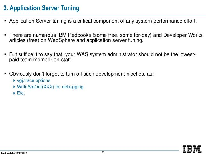 3. Application Server Tuning