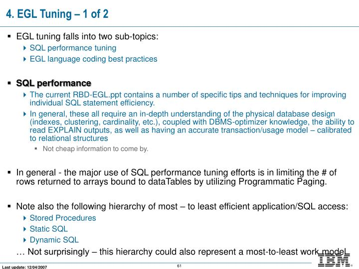 4. EGL Tuning – 1 of 2