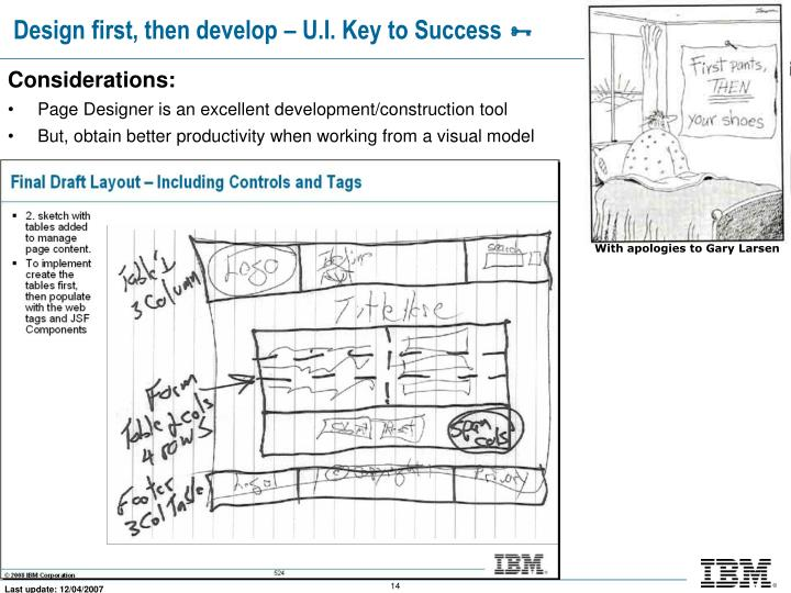 Design first, then develop – U.I. Key to Success