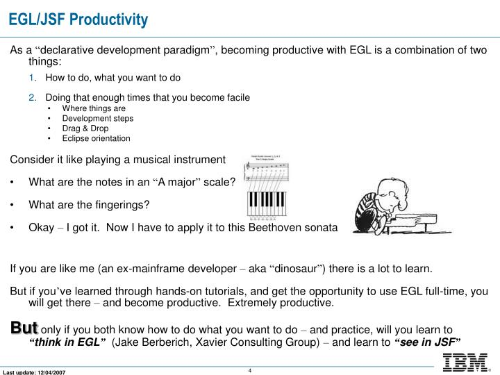 EGL/JSF Productivity