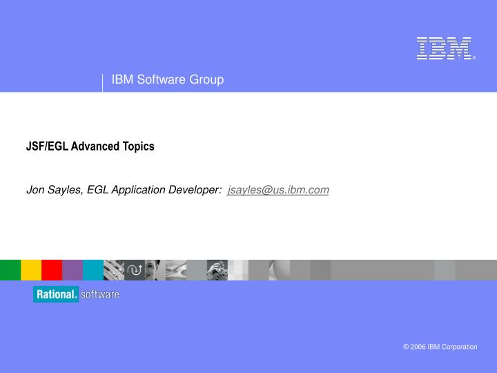 Jsf egl advanced topics