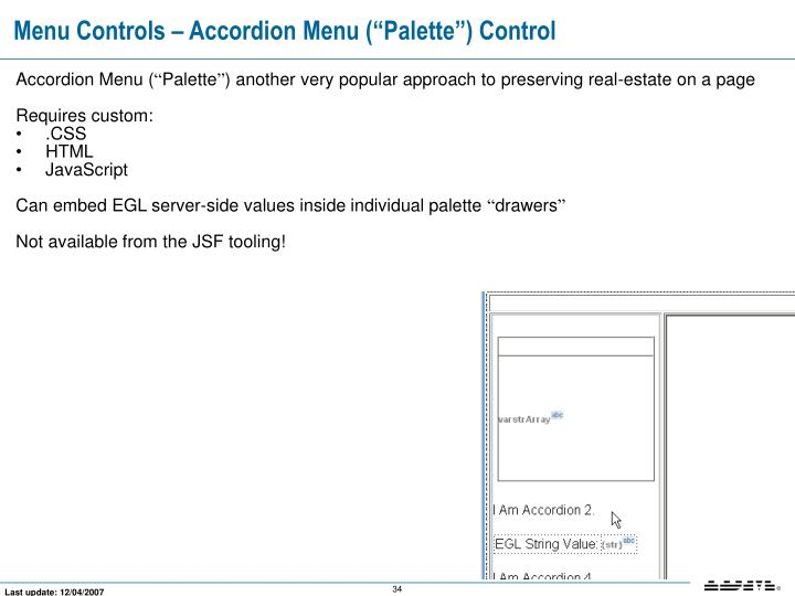 "Menu Controls – Accordion Menu (""Palette"") Control"