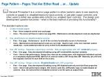 page pattern pages that are either read or update