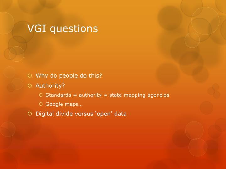 VGI questions