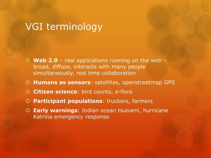 VGI terminology