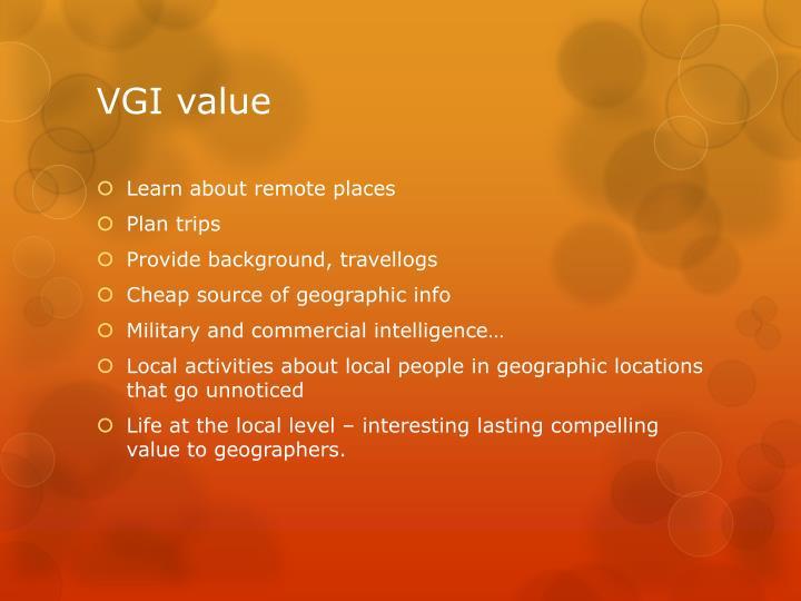 VGI value